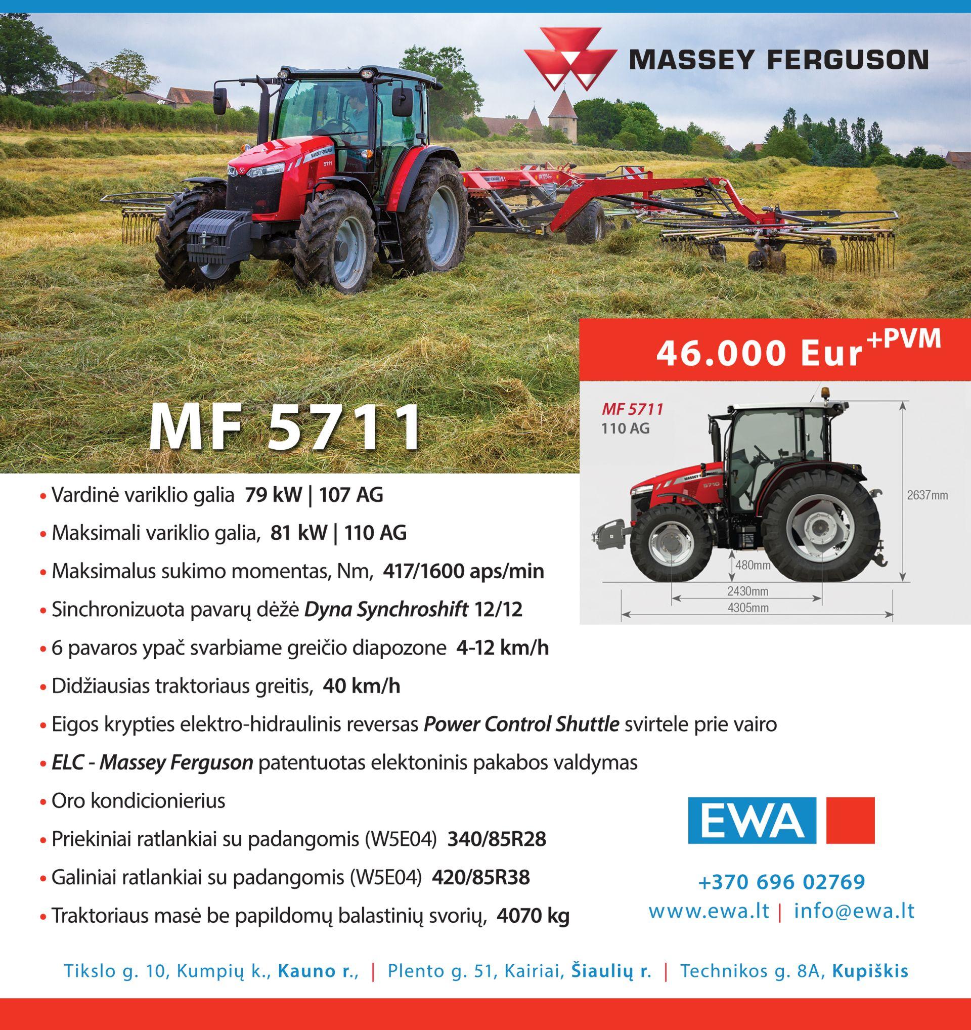 Massey Ferguson 5711 traktorius